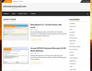 onlinedirectoryweb.info screenshot