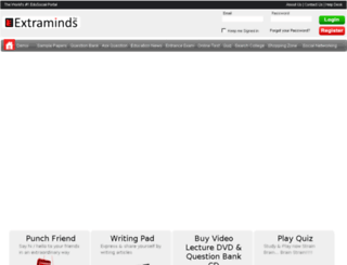 onlineeducation.extraminds.com screenshot