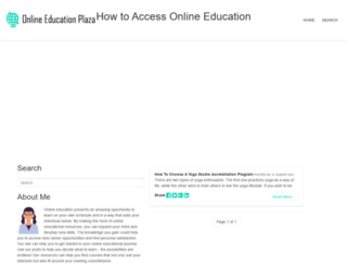 onlineeducationplaza.com screenshot