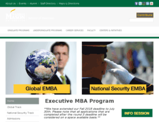 onlineemba.gmu.edu screenshot