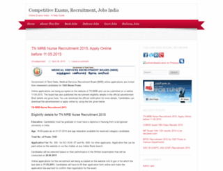 onlineexamindia.wordpress.com screenshot