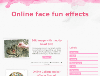 onlinefacefun.com screenshot