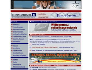 onlinefinanzservice.de screenshot