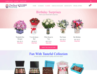 onlineflowershop.ae screenshot