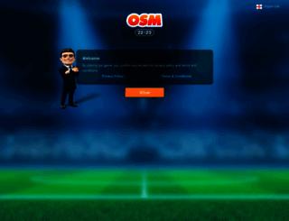 onlinefootballmanager.co.uk screenshot