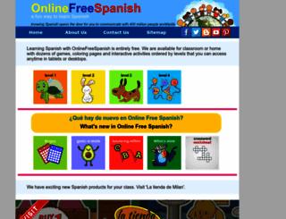 onlinefreespanish.com screenshot