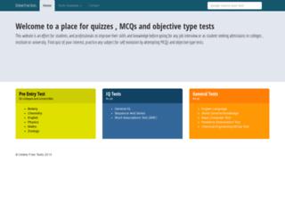 onlinefreetests.com screenshot