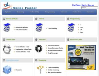 onlinefresher.com screenshot