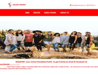 onlinefriends.co.in screenshot