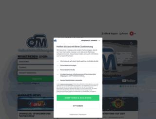 onlinefussballmanager.ch screenshot