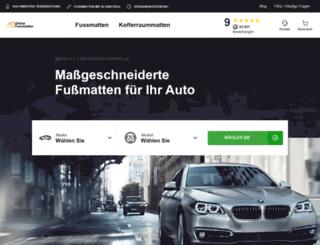 onlinefussmatten.de screenshot