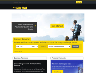onlinefx.westernunion.ca screenshot