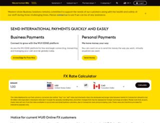 onlinefx.westernunion.co.uk screenshot