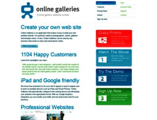 onlinegalleries.com.au screenshot