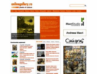 onlinegallery.ro screenshot