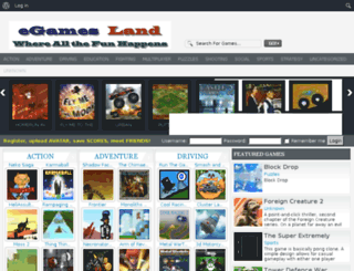 onlinegames.egamesland.com screenshot