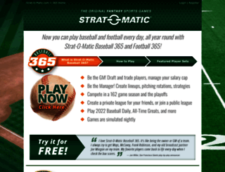 onlinegames.strat-o-matic.com screenshot