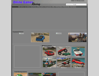 onlinegamesracing.com screenshot