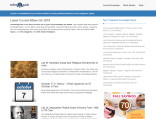 onlinegkguide.com screenshot
