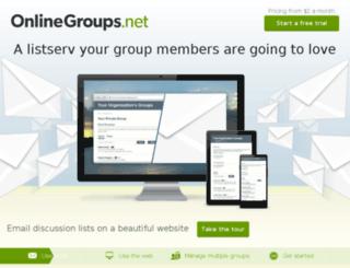 onlinegroups.net screenshot