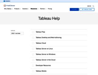 onlinehelp.tableausoftware.com screenshot