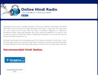 onlinehindiradio.com screenshot