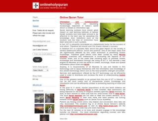 onlineholyquran.wordpress.com screenshot