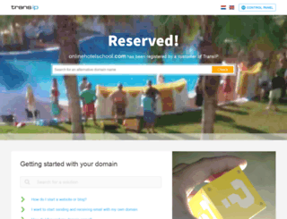 onlinehotelschool.com screenshot