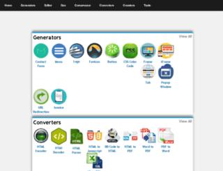onlinehtmltools.com screenshot