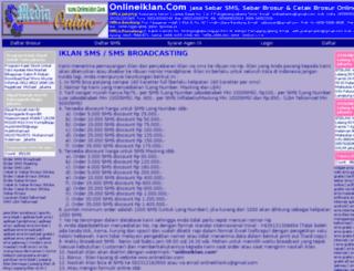 onlineiklan.com screenshot