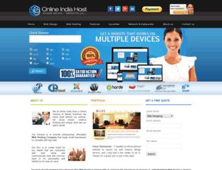 onlineindiahost.com screenshot