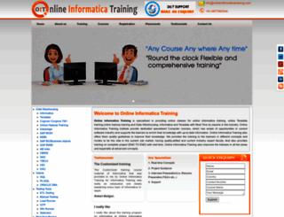 onlineinformaticatraining.com screenshot