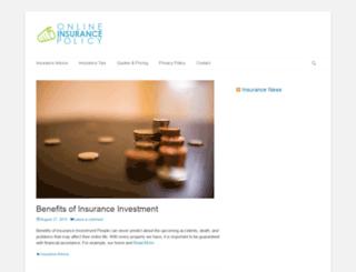 onlineinsurancespolicy.com screenshot