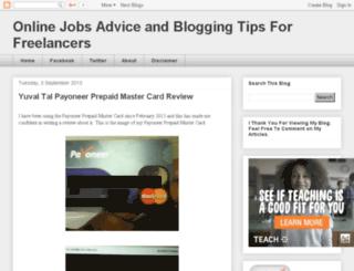 onlinejobsadvicefreelancingkenya.blogspot.com screenshot