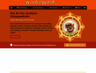 onlinejyotish.com screenshot