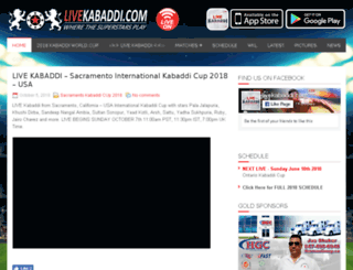 onlinekabaddi.com screenshot