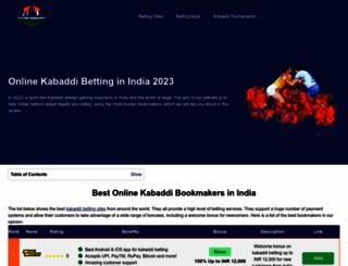 onlinekabaddi.in screenshot