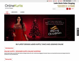 onlinekurtis.com screenshot