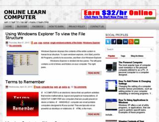 onlinelearncomputer86.blogspot.com screenshot