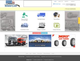 onlinelorry.com screenshot