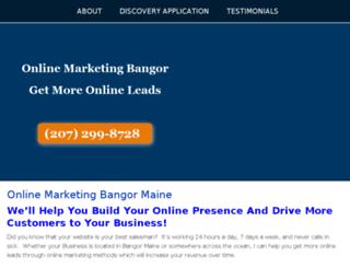 onlinemarketingbangor.com screenshot