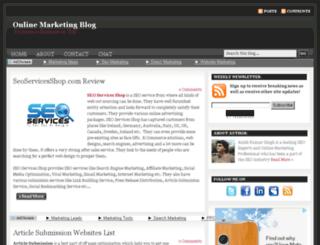 onlinemarketingblog.in screenshot