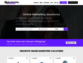 onlinemarketingvacatures.com screenshot