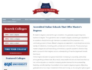 onlinemastersdegree.com screenshot