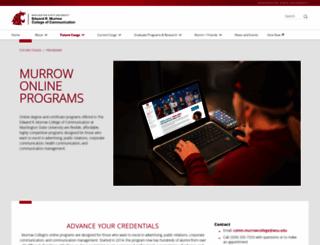 onlinemastratcomm.murrow.wsu.edu screenshot