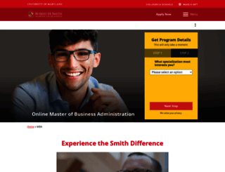 onlinemba.umd.edu screenshot