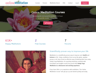 onlinemeditation.org screenshot