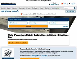 onlinemetals.com screenshot