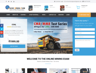 onlineminingexam.com screenshot