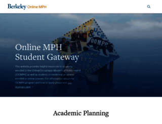 onlinemph.berkeley.edu screenshot